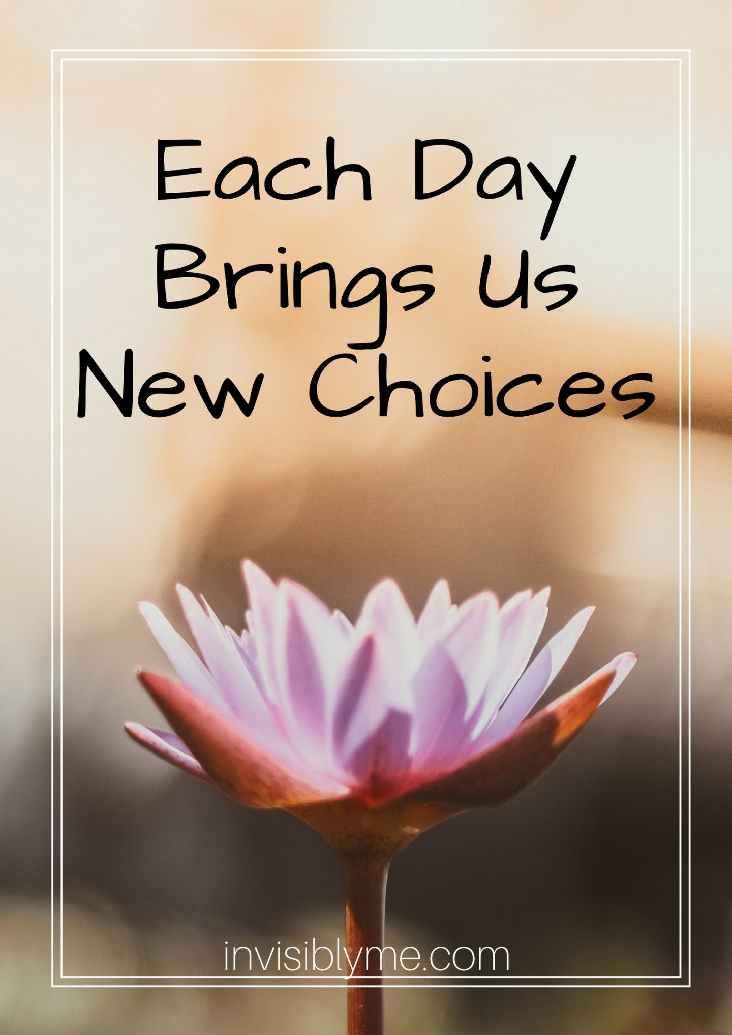Each Day, New Choices