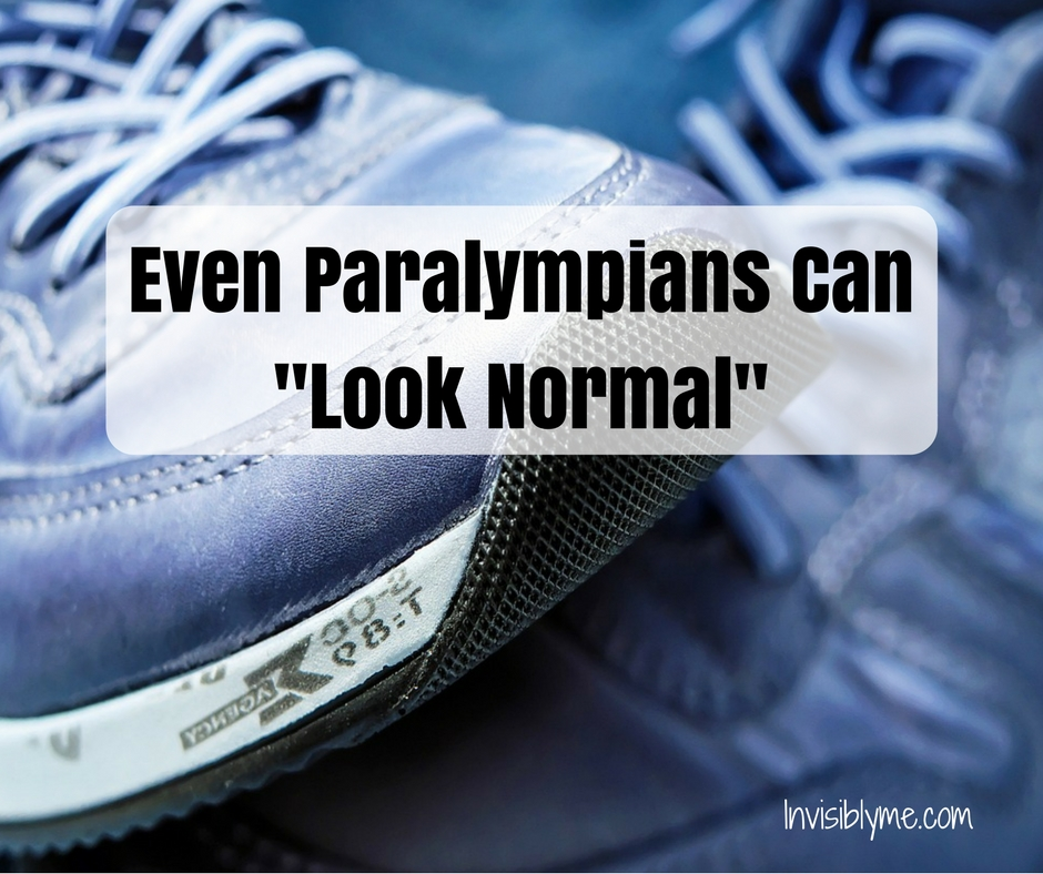 "Even Paralympians Can ""Look Normal"""